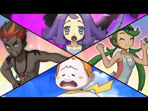 Pokemon Sun & Moon - All Trial Captains (Optional Battles)