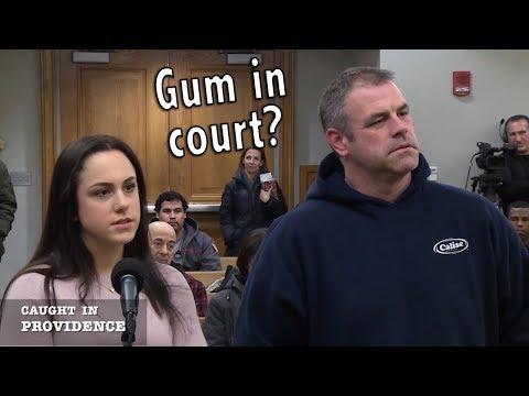 No gum in court!