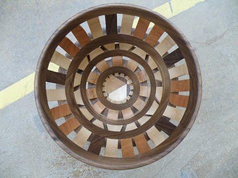 Woodturning - Open segmented bowl