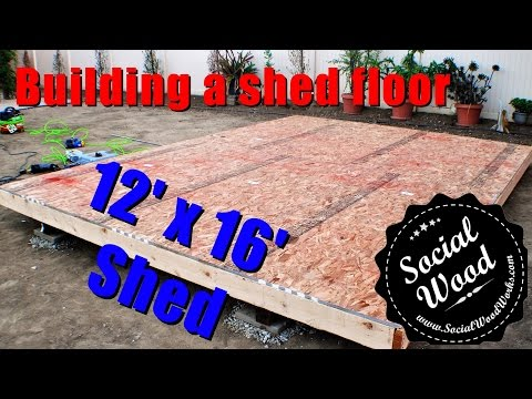 How to Build a Shed – How to frame a shed Floor