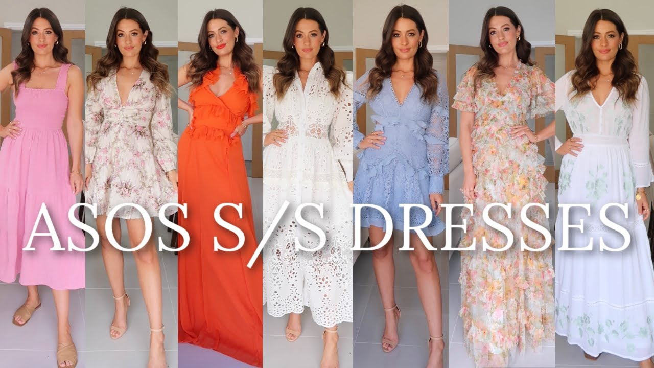 10 ASOS SPRING SUMMER DRESSES - OCCASION WEAR & CASUAL | NEW IN HAUL
