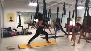 yoga aérien - Exemple Cours débutant