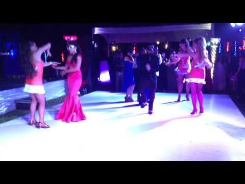 Samba Trio Interactive with wedding couple