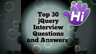 Frequently asked jQuery Interview Questions and Answers top 30   Common Questions in jquery