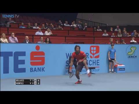 Gael Monfils' magical smash shot from the baseline | Vienna 2015