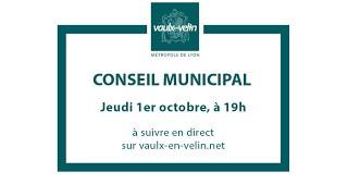 Conseil municipal<br/>1er octobre 2020