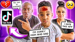 CRAZY TIK TOKS PUT OUR SON DJ IN THE HOSPITAL **TIK TOK IS BANNED**