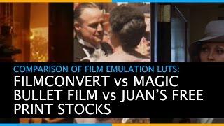 Comparison of Film Emulation LUTs - Filmconvert vs Magic Bullet Film vs Juan Malera's free LUTs