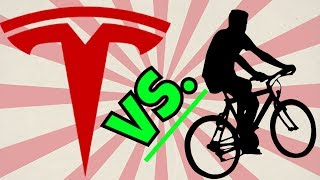 Tesla Autopilot Kill Bikers? LETS FIND OUT! Human Collision Test! Will Mike go Splat?
