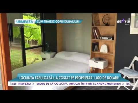 Casa luxoasă contruită din doar 3 containere! Locuința l-a costat pe propietar 1000 de dolari!