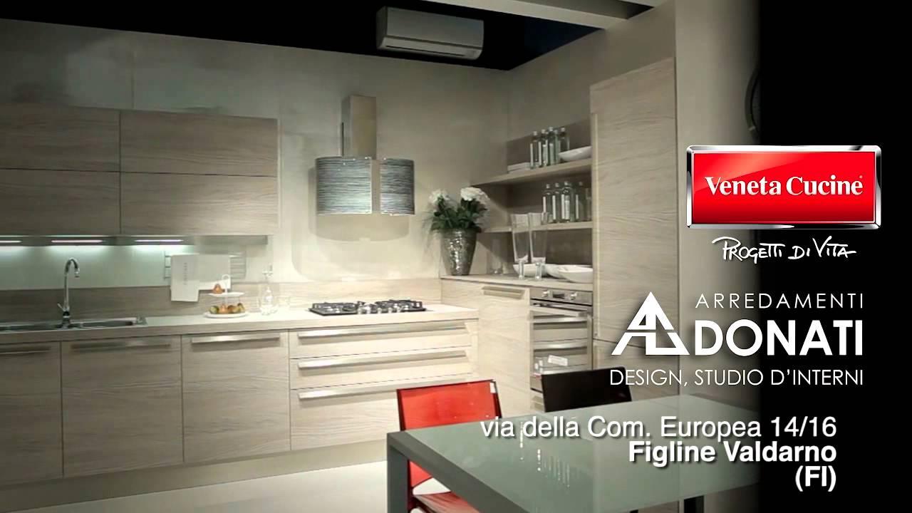 Veneta cucine per arredamenti donati youtube for Veneta arredamenti