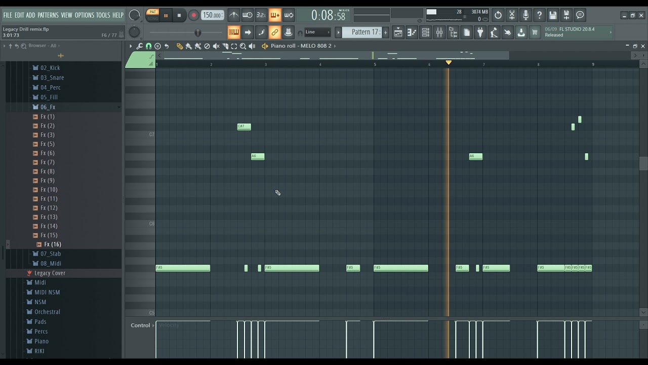 """How to make beats - Tutorial FL Studio """"Legacy"""" REMIX Trap to DRILL !"""