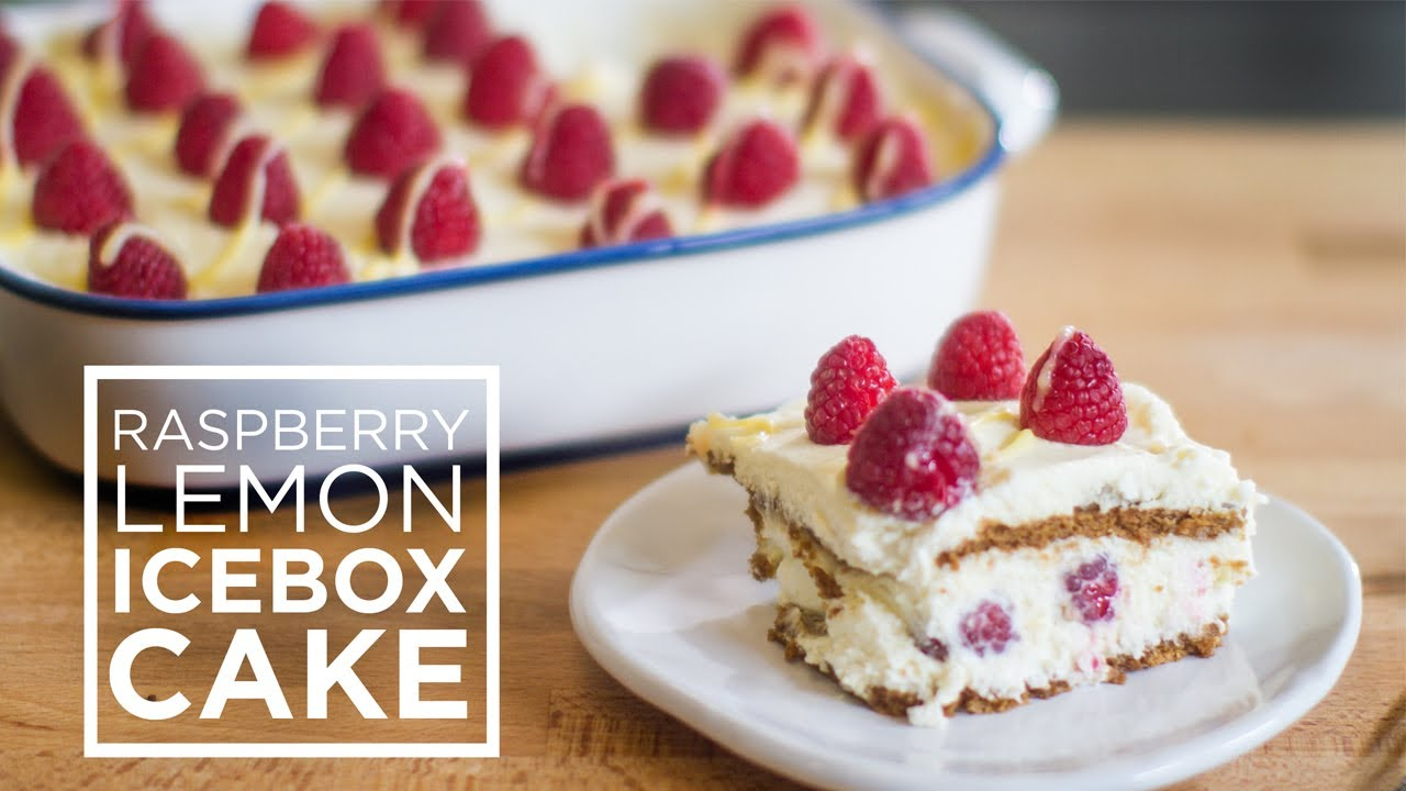 Raspberry Lemon Icebox Cake - YouTube