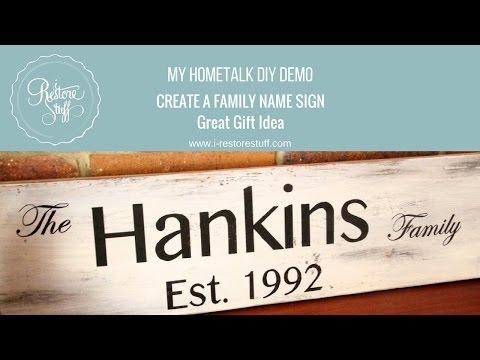 Hometalk LIVE DIY Demo - How to Make a Family Name Sign
