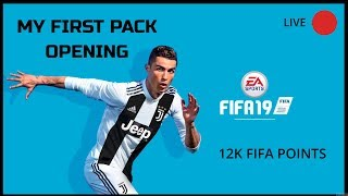 🔵FIFA 19 ON XBOX ONE !!! 12K FIFA PACK OPENING !!!! WISH ME LUCK !!