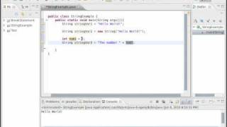 Java Video Tutorial 21: Basic Strings (Pt 1 of 2)