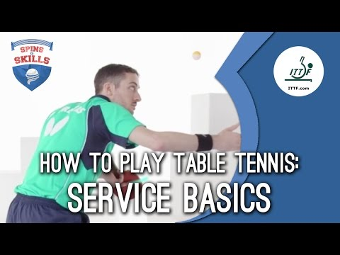 Generate How To Play Table Tennis - Service Basics Pictures