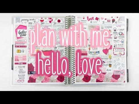 Plan With Me ♡ Hello, Love (ScribblePrintsCo)