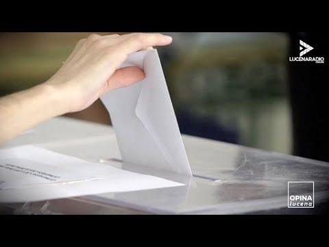 OPINA LUCENA: Hoy: ¿Qué piensan los lucentinos del anticipo electoral?.