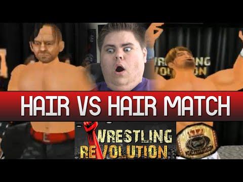 WRESTLING REVOLUTION 3D #2 - Hair vs Hair Match! (MOBILE)