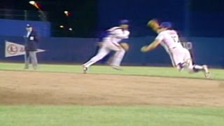 Hernandez dives to rob Ozzie of a hit