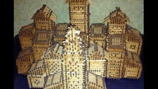 Спичечный домик (как собрать кубик из спичек) часть 1