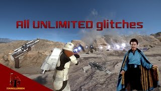 All UNLIMITED Glitches (Gameplay & Tutorial) | Star Wars Battlefront