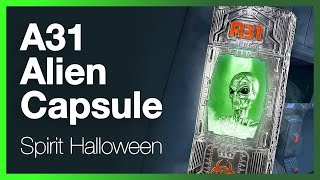 Spirit Halloween A31 Alien Capsule Prop - Unboxing, Review and How to Assemble.