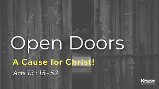 Kingdom House | Open Doors A Cause for Christ | Minister Kevin | November 29, 2020