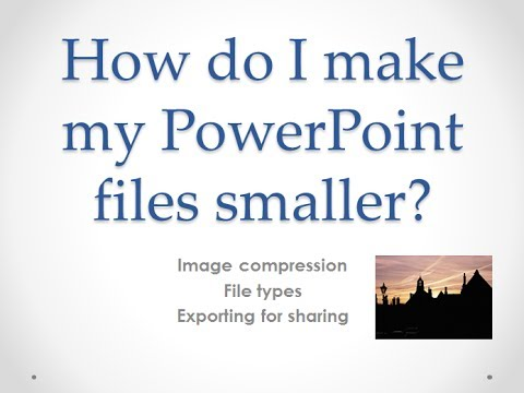 How to reduce file sizes using microsoft powerpoint youtube how to reduce file sizes using microsoft powerpoint toneelgroepblik Images