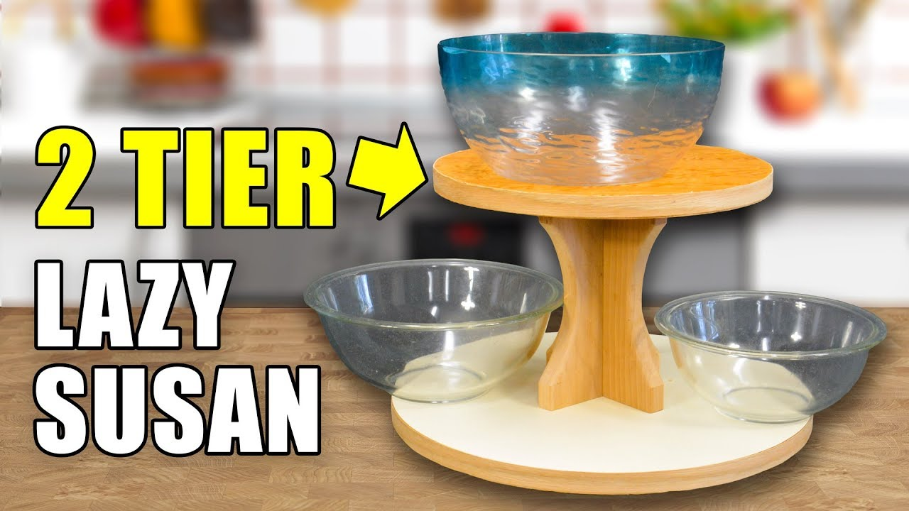 How To Make A Lazy Susan Turning Table 2 Tiers