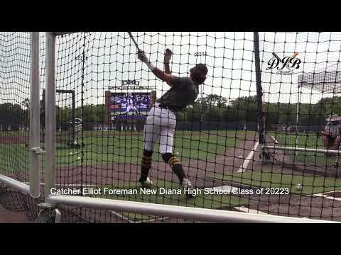 Catcher Elliot Foreman New Diana High School Class of 2023