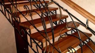 Лестница 133  Металлическая ступени из дерева изготовление в Днепропетровске, Днепр(посмотреть Металлическая ступени из дерева изготовление в Днепропетровске, Днепр здесь - http://kovka-dveri.com/Kovka_per..., 2016-12-01T14:21:48.000Z)