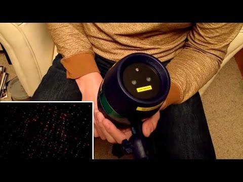 Star Shower Motion Laser Christmas Light Review - YouTube