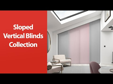 Stunning sloped Vertical blinds for bespoke windows - Made to measure by Capricorn Blinds