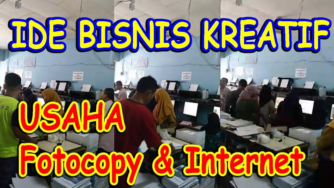 IDE BISNIS KREATIF  USAHA FOTOCOPY & PERCETAKAN  - YouTube