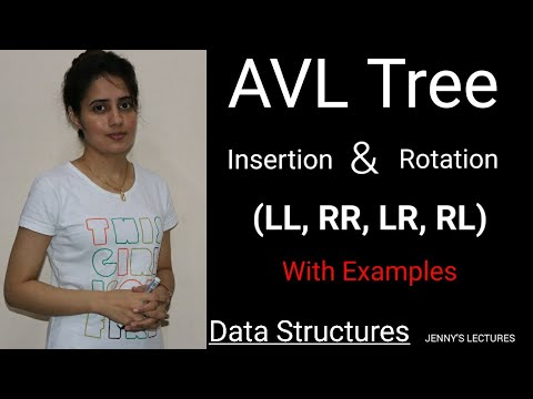 AVL tree - Insertion, Rotations(LL, RR, LR, RL) with example   data structure