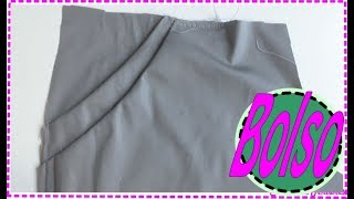Modelagem, Corte e Costura Bolso Duplo para Saia, Vestido, Calça  e Shorts