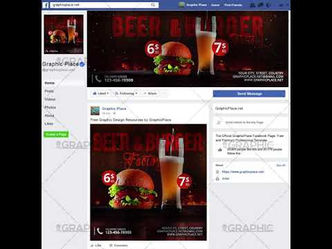 Burger Factory - Social Media Video Template for Facebook