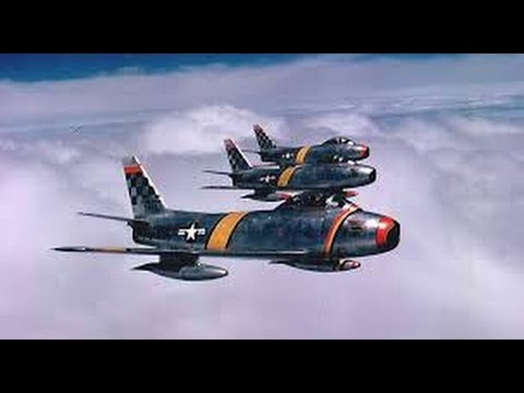 Korean War Jet Dogfights | F86 Saber Jets vs MIG 15 | Military
