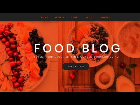 Food Blog HTML & CSS3 हिंदी में