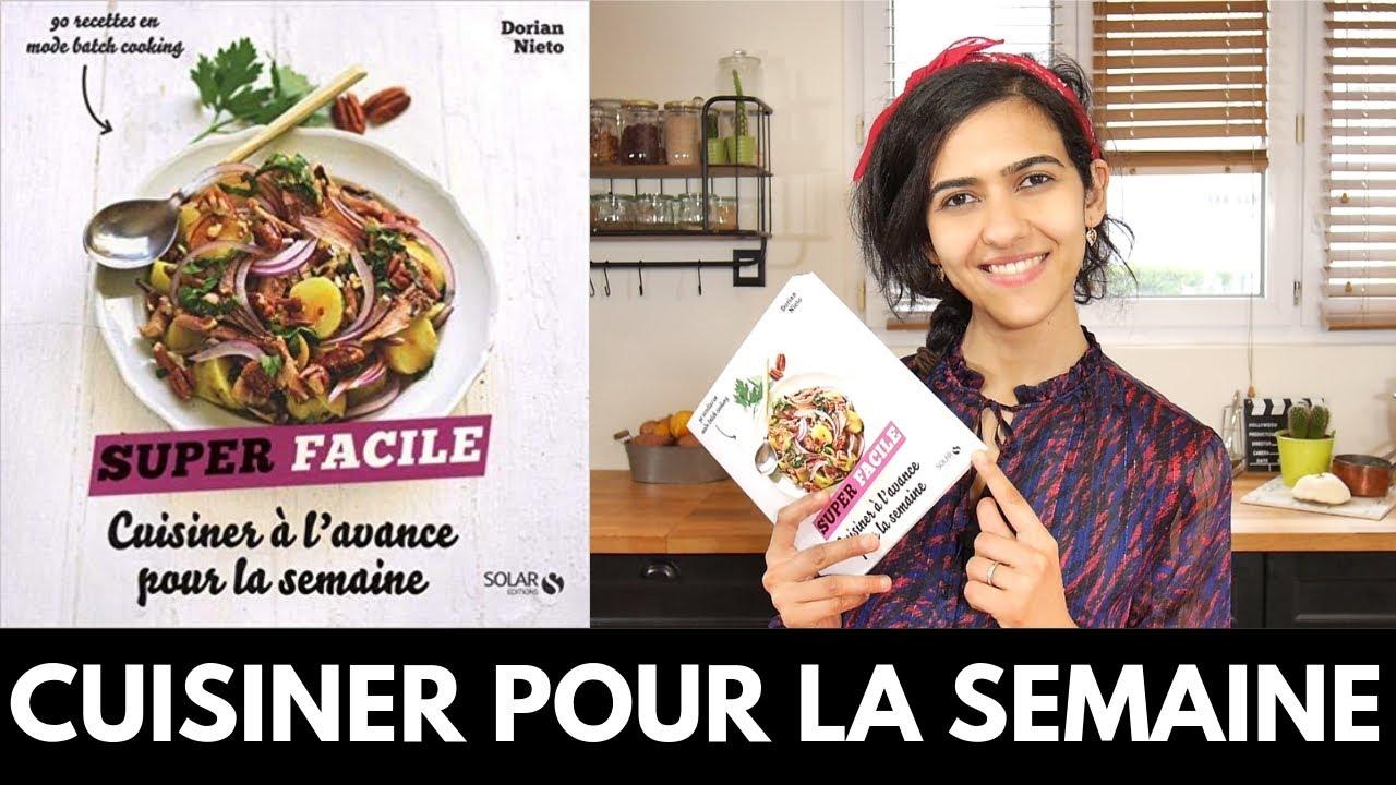 Menu De Batch Cooking Livre Cuisiner A L Avance Pour La Semaine