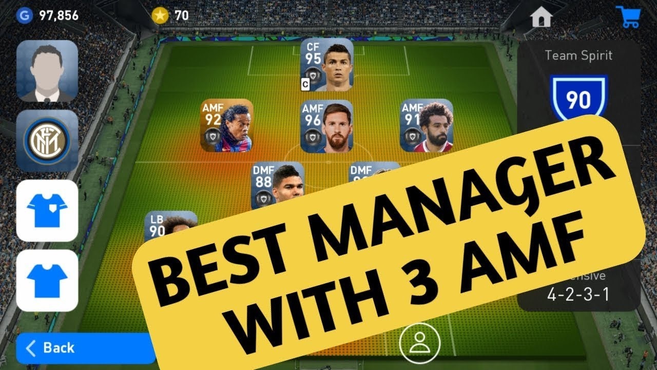 BEST MANAGER WITH 3 AMF PEP GUARDIOLA || PES BLACK BALL TRICK || PES 2019 ||