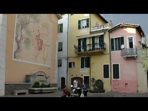 Italy - Region of Liguria - idyllic Ligurian small town Camporosso in conurbation of Ventimiglia