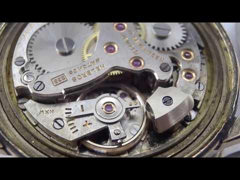 Helbros watch manualwind movement cal.233 Alarm running.