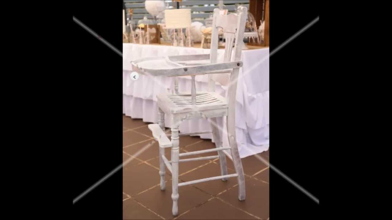 Vintage wooden high chair - Vintage Wooden High Chair Hire