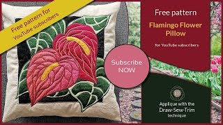 FREE PATTERN - The Flamingo Flower Pillow (DST / Time-lapse)