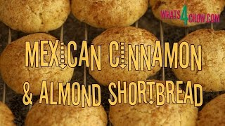 Mexican Shortbread With Cinnamon & Toasted Almonds. Quick & Easy Delicious Mexican Shortbread Recipe
