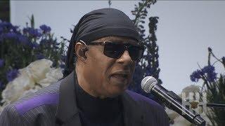 Stevie Wonder Calls For Stronger Gun Laws At Nipsey Hussle's Memorial Service