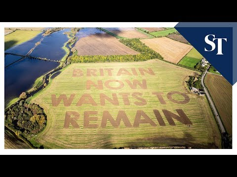 Here's An Anti-Brexit Crop Circle, Sort Of